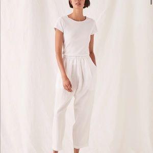 Assembly Label white linen pants